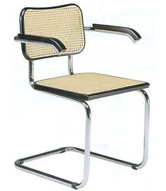 Marcel Breuer Chair com braços (1928)  my first apt chairs,,,love them