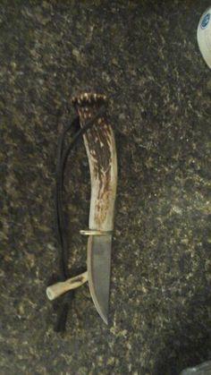 Deer antler knife I just FINISHED