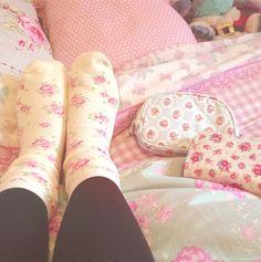 Calcetines de flores para estar calentitos