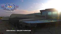 Brite Lite Sign - Gallery Furniture Signage Installation