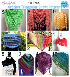 These triangular shawl patterns are lightweight and perfect for Spring and Summer....