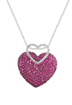 HEART NECKLACE WITH RUBY AND DIAMONDS