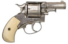Violet's pistol Soft It Comes..., second pass.  A nickle plated and engraved Webley and Scott...