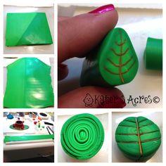 Polymer Clay Leaf Cane Tutorial