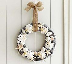 Shell Wreath #potterybarn