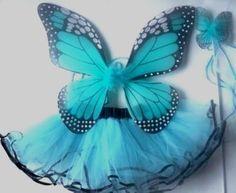 Blue Tutu, Wand & Wings Set