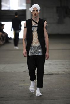 Siki Im Men's RTW Spring 2014 ( I could do this with 4 glasses of wine & 20 minutes. hORRIBLE )