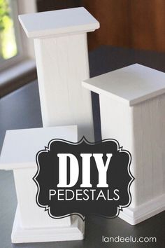DIY Pedestals for Displaying Objects - These are SO easy, you guys!   http://landeelu.com