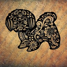 Zentangle Shih Tzu SVG dxf fcm eps ai png cut by DigitailDesigns