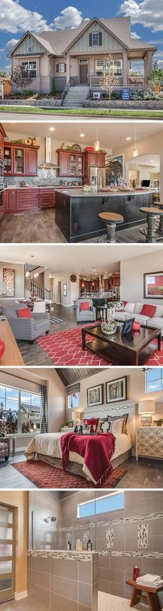 The Parry Peak by David Weekley Homes in Hyland Village is a 3 or 4 bedroom home that features hardwood floors, a large master bath shower and a private covered porch.