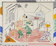 tndra: David Hockney Pembroke studio interior, 1984