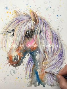 ORIGINAL Watercolour Painting Palomino Horse by Sophie Appleton Artist in U.K. | Art, Paintings | eBay!