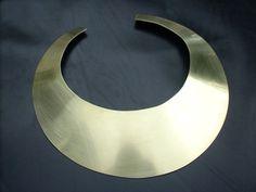 Alexandra Blak - gold bib necklace
