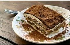 Tiramisu (tih-ruh-mee-SOO) - The Italian translation for tiramisu is 'carry me up.' Also known as Tuscan Trifle. Tradition tiramisu is a pudding-like dessert that usually consists of sponge cake or Italian Desserts, Fun Desserts, Dessert Recipes, Sweet Meat Recipe, Easy Tiramisu Recipe, All I Ever Wanted, Kraft Recipes, Different Recipes, Chocolate