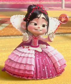 *PRINCESS VALELLOPE ~ Wreck-it-Ralph, 2012 (she reminds me of AGNES in DESPICABLE ME in this picture!)