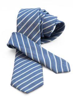Valentino Linen/Silk Tie - Light Blue