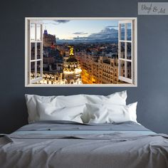 Diy Home Decor, Room Decor, Wall Decor, Faux Window, 3d Wall Murals, Master Room, Small Apartments, Wall Colors, Cool Furniture