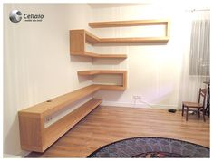 Decoration, Bookcase, Furniture Design, Loft, Shelves, Architecture, Bed, Home Decor, Anime