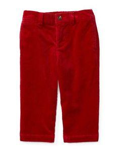 Ralph Lauren Childrenswear Baby Boys   Corduroy Pants  Park Avenue Red
