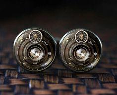 Camera cufflinks, Photography cufflinks, Gift For Photographer, Camera Lenses cufflinks, men's cufflinks, cb18