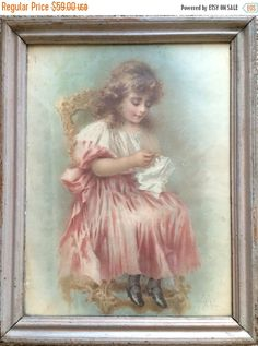 A personal favorite from my Etsy shop https://www.etsy.com/ca/listing/232288597/on-sale-antique-painting-framed-art