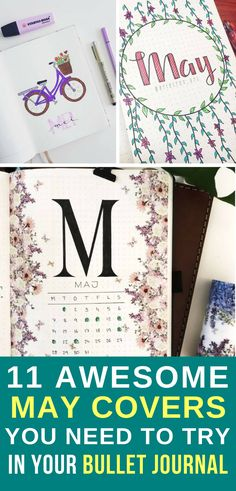 It's that time of the month again… time to prepare our Bullet Journal pages, so come plan with me and check out these awesome May 2018 covers!