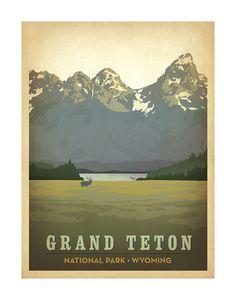 Grand Teton National Park, Wyoming Art Print at AllPosters.com