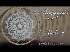 Crochet Dreamcatcher, Crochet Mandala, Filet Crochet, Crochet Flower Tutorial, Macrame Tutorial, Diy Flowers, Crochet Flowers, Boho Curtains, Crochet Videos