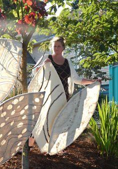 Fiona Duthie: Respiration: an Outdoor Felt Installation