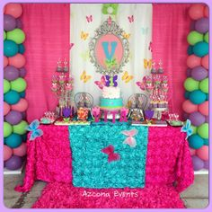 Butterflies Themed 1st Birthday Sweets Table