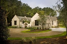 Drive, courtyard, garage. Nice setup, but with more of a lowcountry style facade. | Pearce Scott Architects