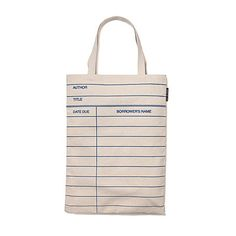 Look what I found at UncommonGoods: Library Card Tote Bag for $20 #uncommongoods