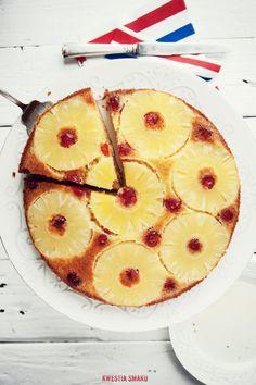 Odwrócone ciasto ananasowe - Przepis