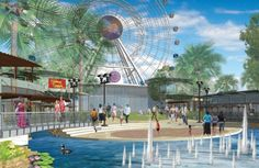 I-Drive Live concept, a new entertainment complex that will feature a Sea Life Aquarium, Madam Tussauds Wax Museum and the Orlando Eye Ferris wheel, starting New Years Eve via Diaz Informer Florida Hotels, Florida Travel, Orlando Florida, Universal Studios Florida, Universal Orlando, Orlando Eye, Orlando Holiday, Legoland Florida, Visit Orlando