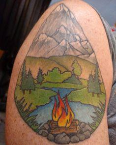 River mountain tattoo River Tattoo, Mountain Tattoo, Tattoo Ideas, Tattoos, Painting, Instagram, Art, Art Background, Tatuajes