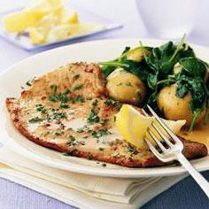 Veal scallopini with herbs Save Print Prep time 15 mins Cook time 25 mins Total time 40 mins In this light summery dish, ultra-thin, tender veal escalopes are quickly fried, and the pan is then deglazed with wine to make a sauce. New potatoes and spinach Veal Scallopini, Veal Cutlet, Veal Stew, Cutlets Recipes, Cook Smarts, Cooking Recipes, Healthy Recipes, Savoury Recipes, Recipes