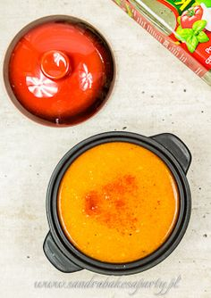 Soup with roasted red peppers. Incredibly aromatic, great served hot as well as chilled.