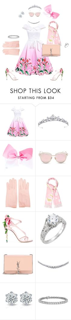 """Summer Wedding Set"" by diamond-mara ❤ liked on Polyvore featuring LMNT, Christian Dior, Dolce&Gabbana, Yves Saint Laurent and Blue Nile"