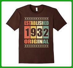 Mens Established 1932 85th Birthday T-Shirt 2XL Brown - Birthday shirts (*Amazon Partner-Link)