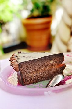 My sister in law makes a delicious version of this. Rejoice and look no further: simply the best Sacher Torte recipe ever. In Serbian and English. Bosnian Recipes, Dessert Recipes, Desserts, Something Sweet, Cakes And More, Let Them Eat Cake, Chocolate Cake, Sweet Treats, Postres