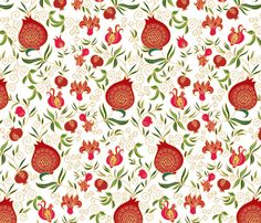 Pomegranates fabric by dariara on Spoonflower - custom fabric Yalda Night, Custom Fabric, Spoonflower, Printing On Fabric, Pattern Design, Print Patterns, Royalty Free Stock Photos, Pomegranates, Wallpaper