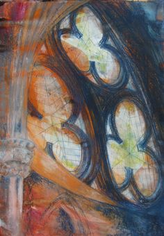 Lichfield Cathedral, c2010, Lesley Westrop, mixed media, UK