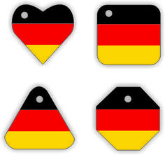 Don't you love these Germany Swap Tags from MakingFriends.com. Every country available. #WorldThinkingDay, #thinkingday, #swap, #germany