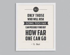 T. S. Eliot Print: Help her celebrate her accomplishment with a tasteful, retro-inspired print. T. S. Eliot marathon poster ($15)