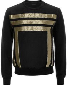 Geometric Jacquard Sweatshirt