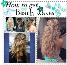 """How to get beach waves"" by tip-gypsies ❤ liked on Polyvore"