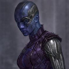 Happy belated Birthday to aka the lovable assassin & daughter of universe protector Thanos, Nebula! This is a closeup… Marvel Actors, Marvel Art, Marvel Heroes, Marvel Movies, Marvel Avengers, Nebula Marvel, Iron Man Tony Stark, Dc Comics Art, Character Costumes