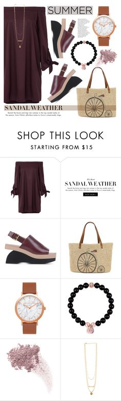 """The Cutest Summer Sandals"" by helenevlacho on Polyvore featuring TIBI, Marni, Straw Studios, Bare Escentuals, contestentry, summersandals and christianpaul"