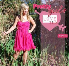 i love pink dresses