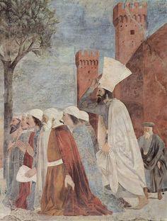 I Capolavori dell'Arte in Toscana | Piero della Francesca | Storie della Vera Croce, 1452-1466, Esaltazione della Croce |